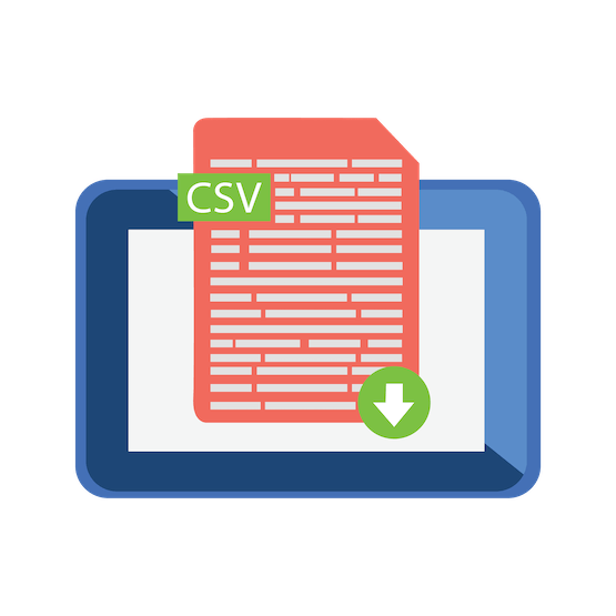 An illustration of a CSV download