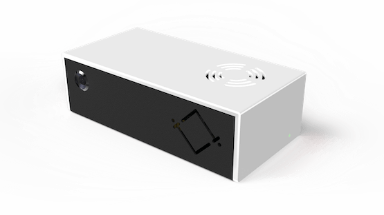 A photo of the HoxtonAi device