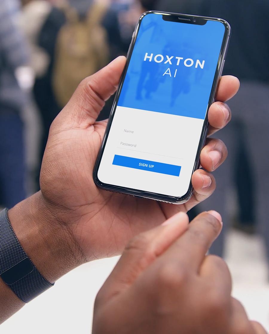 A phone login for HoxtonAi solutions